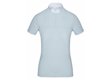 Cavalleria Toscana Square Perforated Zip Competition Polo, Lyseblå