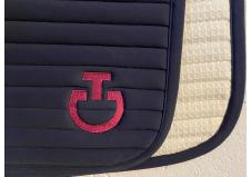 Cavalleria Toscana Quilted Row Jersey Dressurunderlag, Navy str. Full