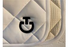Cavalleria Toscana Jersey Quilted Rhombi Dressrunderlag, Hvid str. Full