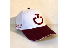 Cavalleria Toscana cap, hvid med bordeaux logo, one size
