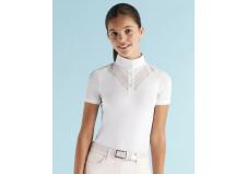 Cavalleria Toscana Double V Stævne T-shirt junior, hvid