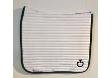 Cavalleria Toscana Quilted Row Jersey dressurunderlag, hvid
