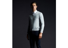 Cavalleria Toscana V-neck sweater herre, grå, str. M