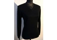 Cavalleria Toscana Tech Wool V-Neck Sweater, mørk navy