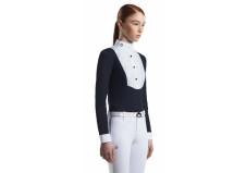 Cavalleria Toscana Young Rider Shirt with bib – Langærmet stævnebluse