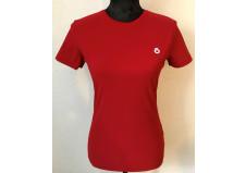 Cavalleria Toscana Stribe Rib Knit Back Waistband T-shirt, rød