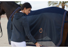 Cavalleria Toscana Cotton and Mesh sveddækken, navy