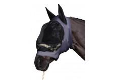 HorseGuard Insektmaske med lynlås, grå/sort