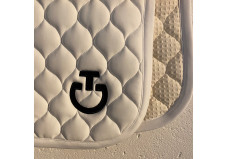 Cavalleria Toscana Cirkular Quilted Dressurunderlag, hvid str. Full