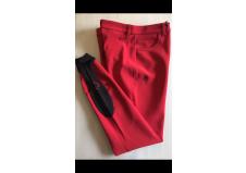 Cavalleria Toscana Girl's Color Grip Breeches, Junior, Rød