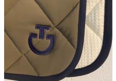 Cavalleria Toscana Jersey Quilted Rhombi Dressurunderlag, Armygrøn/Navy str. Full