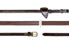 Dy'on Collektion Hunter Læder/gummitøjle 13mm