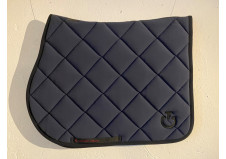 Cavalleria Toscana Jersey Quilted Rhombi Springunderlag - støvet blå str. FULL