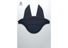 Cavalleria Toscana Embroidered CT Tech Jersey Ear Net, grå, str. full