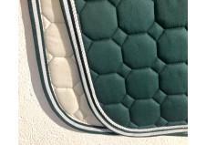 Equiline underlag, spring, full, grønt m. stribet kant og pipe